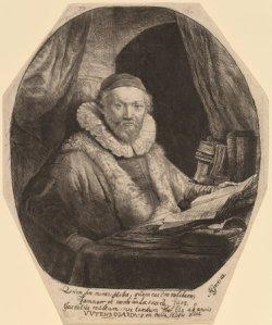Rembrandt van Rijn (Dutch, 1606 - 1669 ), Jan Uytenbogaert, 1635, etching and burin, Rosenwald Collection