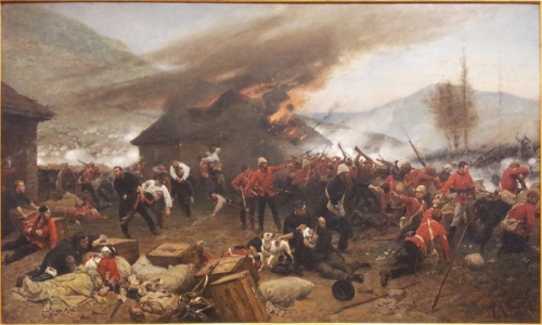 The defence of Rorke's Drift 1879 Alphonse de Neuville 1880  oil on canvas   181.4 x 301.5 cm