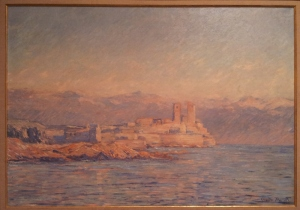 The Chateau d'Antibes Claude Monet 1888 oil on canvas Private collection; displayd at Art Gallery NSW