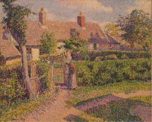 Peasants' houses, Eragny Camille Pissarro 1887   oil on canvas