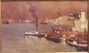 An autumn morning, Milson's Point, Sydney Tom Roberts oil on canvas 1888 http://www.artgallery.nsw.gov.au/collection/works/27.1983/