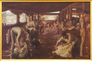 The Golden Fleece Tom Roberts 1894   oil on canvas http://www.artgallery.nsw.gov.au/collection/works/648/