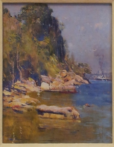From my camp (Sirius Cove) Arthur Streeton 1896   oil on plywood http://www.artgallery.nsw.gov.au/collection/works/193.1991/