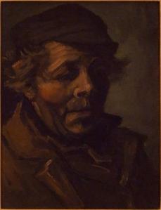 Head of a peasant Vincent van Gogh 1884  oil on canvas