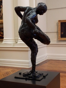 Dancer looking at the sole of her right foot  Edgar Degas bronze, cire perdu (lost wax) 1900-1910 cast 1919-1921