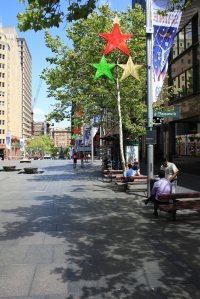 Martin Place from the east end (Macquarie St)