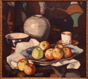 Still life: apples and jar Samuel John Peploe circa 1912-circa 1916 oil on canvas http://www.artgallery.nsw.gov.au/collection/works/8049/
