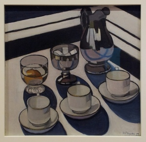 Implement Blue Margaret Preston 1927 oil on canvas on hardboard