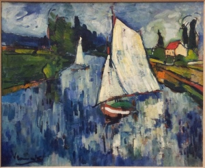Sailing boats at Chatou Maurice de Vlaminck 1906 oil on canvas  http://www.artgallery.nsw.gov.au/collection/works/320.2006/