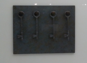 Yoko Ono Bronze Age: Keys to open the skies 1966/1988 Artwork painted bronze