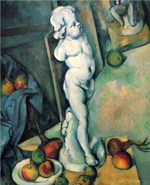 Paul Cezanne Still life with plaster cupid