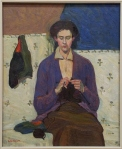 Grace Cossington Smith The sock knitter