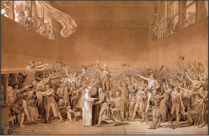 Jacques-Louis David The Tennis Court Oath 20th June 1789 © RMN-Grand Palais