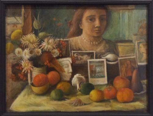 Margaret Olley Portrait in the mirror