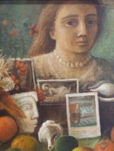 Detail of Margaret Olley Portrait in the mirror 1948
