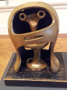 Henry Moore Helmet head no. 2 1955 bronze
