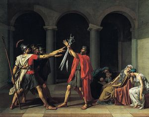 Jacques-Louis David The Oath of the Horatii Louvre Museum