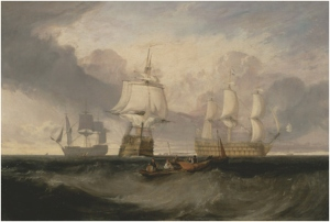 Joseph Mallord William Turner The Victory Returning from Trafalgar ca 1806 Yale Center for British Art