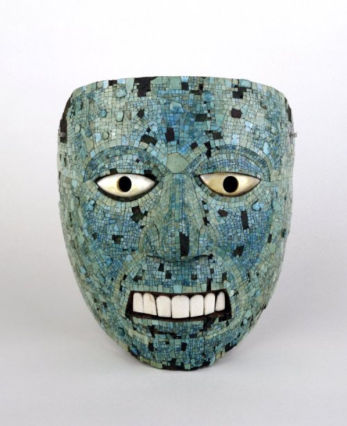 The Turquoise Mosaics Mask (human face, possibly representing Xiuhtecuhtli)  © Trustees of the British Museum