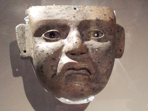 Teotihuacán mask Maker unknown, 900 - 1521 Greenstone with obsidian eyes
