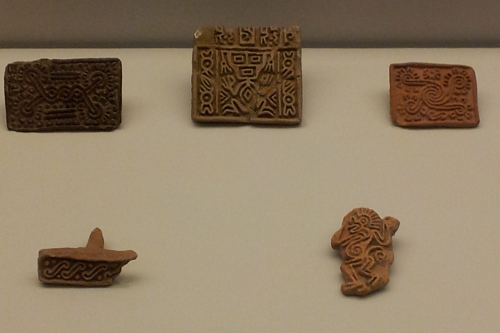 Stamps Aztec, 1250 - 1521 Fired clay