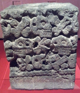 Sculpture of skulls Aztec, 1250 - 1521 Basalt
