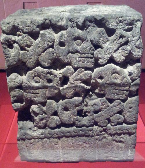 Sculpture of skulls Aztec, 1250 - 1521 Basalt