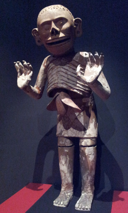 Mictlantecuhtli (god of death) Aztec, about 1480 Fired clay, stucco