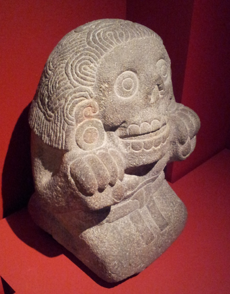 Sculpture of Cihuateotl (divine woman) Aztec, about 1500s Basalt