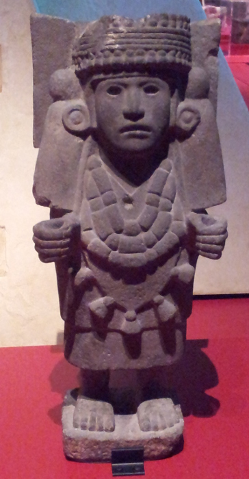 Sculpture of Chalchiuhtlicue (goddess of rivers and lakes) Aztec, 1250 - 1521 Andesite tuff