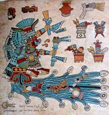 Codex Borbonicus folio 3 (detail)
