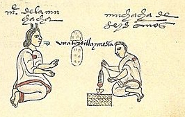 Codex Mendoza Folio 58r (detail)