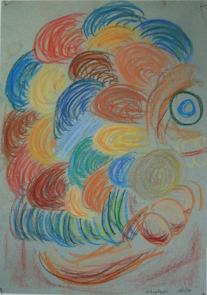 Cihuacoatl A3 conte crayon on pastel paper
