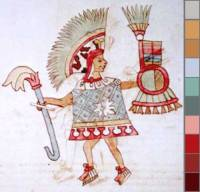 Codex Vaticanus 3738 58r (detail)  http://www.famsi.org/research/graz/vaticanus3738/img_page058r.html with colour picks