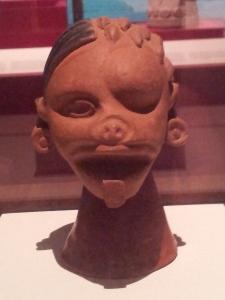 Duality vessel Matlatzinca, 1250-1521 Fired clay, pigment Aztec exhibition, Australian Museum