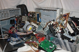 Found computer components