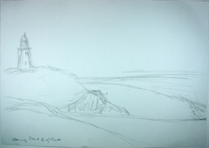 vlaming head lighthouse sketch
