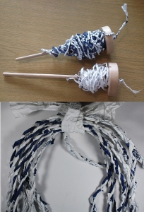 spinning carrier bags