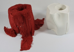 Paper and plaster samples