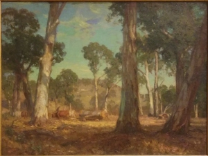 Hans Heysen Hauling Timber (1911)