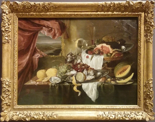 Laurens Craen Still life with imaginary view
