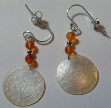 Marianne - carnelian and silver